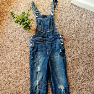 Denim Overalls with Pockets